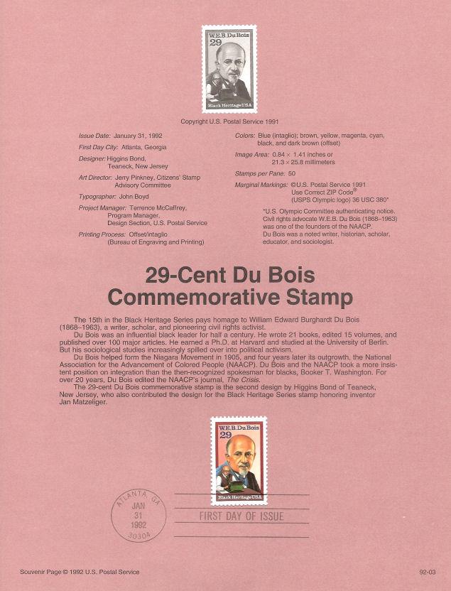 1000 USPS Souvenir Pages1992 1993