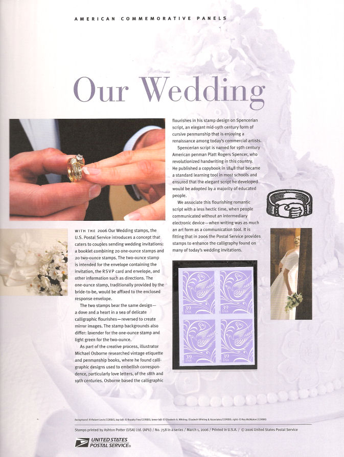 Usps Wedding Stamps.758 39c Our Wedding Dove Stamp 3998 Usps Commemorative