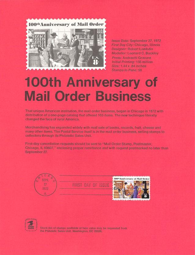 7211 8c Mail Order Stamp 1468 Souvenir Page Ebay